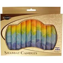 12 Pack Safed Shabbat Candle - Fantasy Orange
