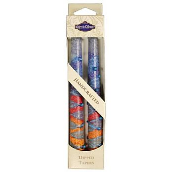 2 Pack Safed Taper Candle - Sunrise Blue