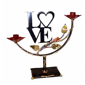 Gary Rosenthal Large Lasercut Love Candlesticks