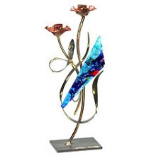 Gary Rosenthal Art Candlesticks - Flowery Collection
