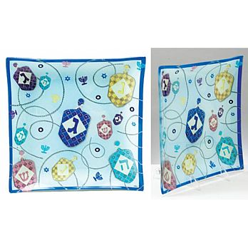 Hanukkah Glass Serving Tray - Scrapbook