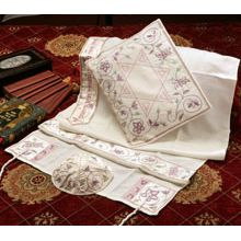 Soft Cotton Luxurious Tallit Set - Pink Matriarchs & Star