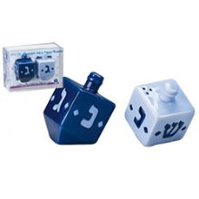 Ceramic Dreidel Salt And Pepper Shaker - Gift Boxed