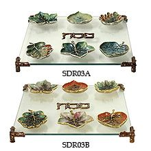 Exquisite Woodland Leaves Seder Plate