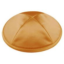 Deluxe Imprinted Satin Kippot - Gold