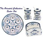 Ceramic Delft Look Seder Set - Oriental