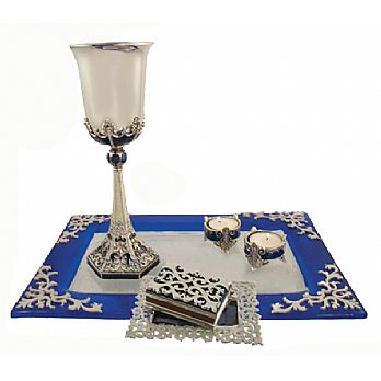 Exquisite Shabbat Tableware Set - Lace
