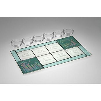 Art Glass & Metal Seder Plate - Miriam's Celebration