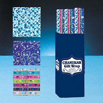 Case of Hanukkah Gift Wrapping Paper  - 24 Rolls