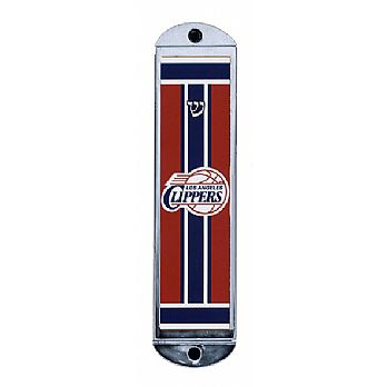 Metal Mezuzah Cover - LA Clippers