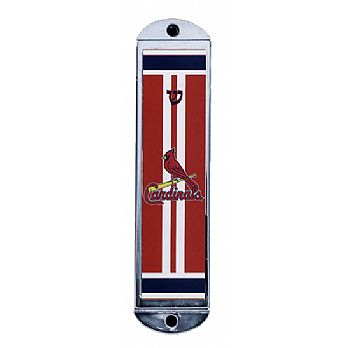 Metal Mezuzah Cover - St Louis Cardinals