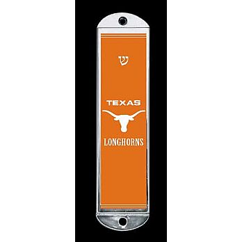 Metal Mezuzah Cover - Texas Longhorns