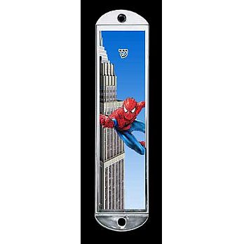 Metal Mezuzah Cover - Spiderman