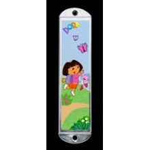 Metal Mezuzah Cover - Dora
