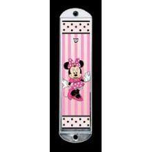 Metal Mezuzah Cover - Minnie Mouse with Dots