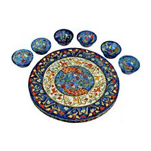 Carved Wood Seder Plate By Emanuel - Peacocks