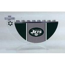 Acrylic and Steel Hanukkah collectors Menorah - NY JETS
