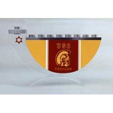 Acrylic and Steel Hanukkah collectors Menorah - USC Trojans