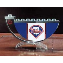Acrylic and Steel Hanukkah collectors Menorah - Phillies