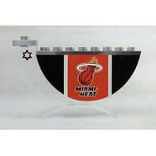 Acrylic and Steel Hanukkah collectors Menorah - Miami Heat