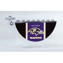 Acrylic and Steel Hanukkah collectors Menorah - Baltimore Ravens