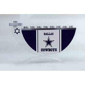 Acrylic and Steel Hanukkah collectors Menorah - Dallas Cowboys