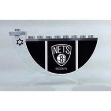 Acrylic and Steel Hanukkah collectors Menorah - Brooklyn Nets