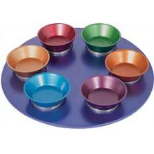 Anodized Aluminum Seder Plate By Emanuel - Multi Color