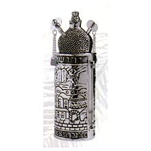 Silver Plated Sefardic Mini Torah