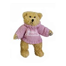 Plush Happy Hanukkah Bear - Pink