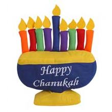 Plush Hanukkah Colorfull Menorah Toy