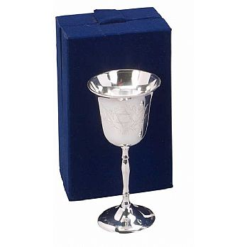 Silverplated Kiddush Cup - Velvet Box