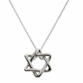 Star of David Braided Pendant