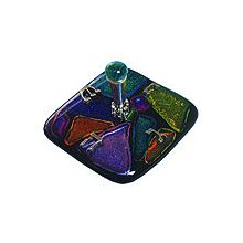 Fused Glass Dreidel - Tamara Baskin