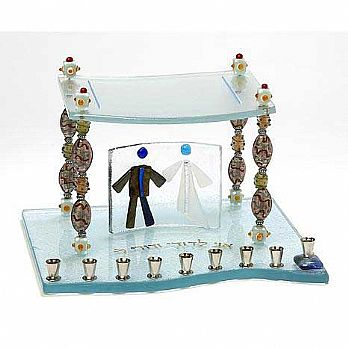 Fused Glass Menorah - Beads of Life Chupah