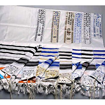 Quality Striped Acrylic ''Temple Tallit''