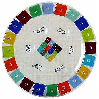 Fused Glass Seder Plate - 12 Tribes