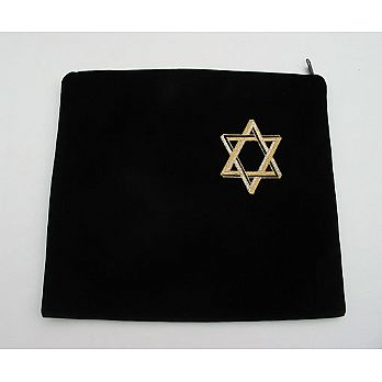 Velvet Tefilin Bag - Star of David