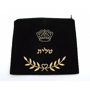 Embroidered Tallit Bag - Traditional Crown Design