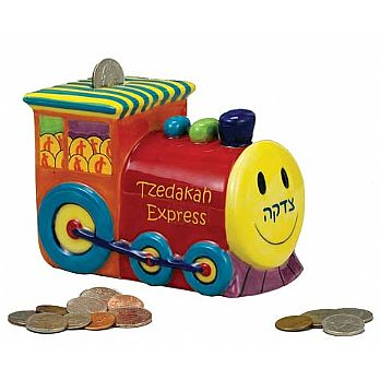 Tzedakah Express - Ceramic Charity Box
