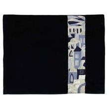 Luxurious Embroidered Velvet Tallit Bag - Jerusalem