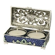 Ornate Treasurechest Travel Candle Holder