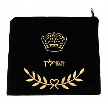 Velvet Tefilin Bag - Crown