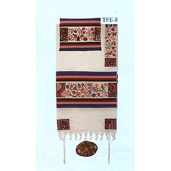 Emanuel All Embroidered Tallit Set - Matriarchs in Color
