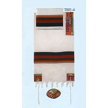 Emanuel Embroidered Tallit Set - Jerusalem in Color