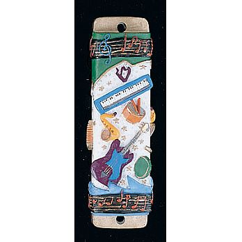 Mezuzah Cover - Musical Instruments