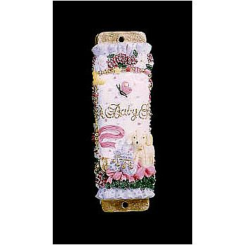 Baby Mezuzah Cover - A Baby Girl