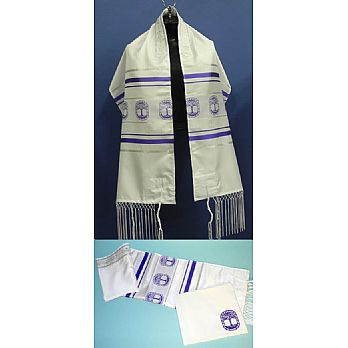 Tree Of Life Tallit Set - Lavender & Silver