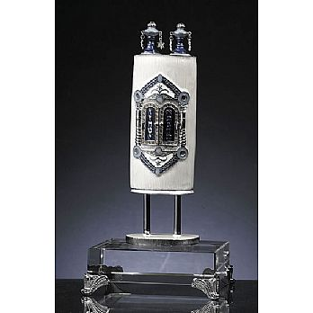 Presentation Torah Sculpture on Stunning Base - White