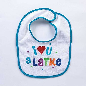 Chanukah Bib - I Love You A Latke